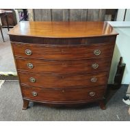 Bow-Fronted Chest in The Manner of Gillows