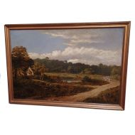 Victorian Oil on Canvass Landscape Painting