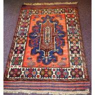 Gorgeous Vintage Tajikistan Tribal Wool Rug
