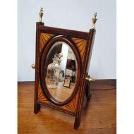 Rare Miniature Edwardian Cheval Mirror