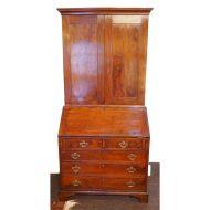 Rare George ll Yew-Wood Bureau Bookcase
