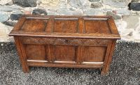 Gorgeous 18th Century Carved Oak Coffer