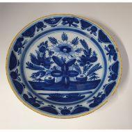 18th Century Dutch Delft Blue Charger