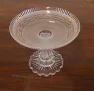 Beautiful Victorian Cut Glass Tazza