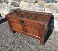 Early 18th Century Carved Oak Coffer