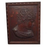 Georgian Carved Oak Panel of a Roman Senator