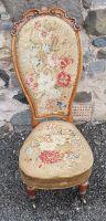 London Made Victorian Walnut Slipper Chair