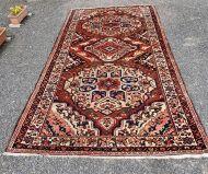 Vintage Hamadan Hand Knotted Wool Carpet
