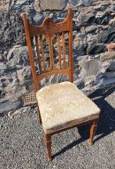 Glasgow School Oak Single Hall Chair