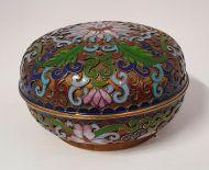 Good Victorian Cloisonne Pot and Lid