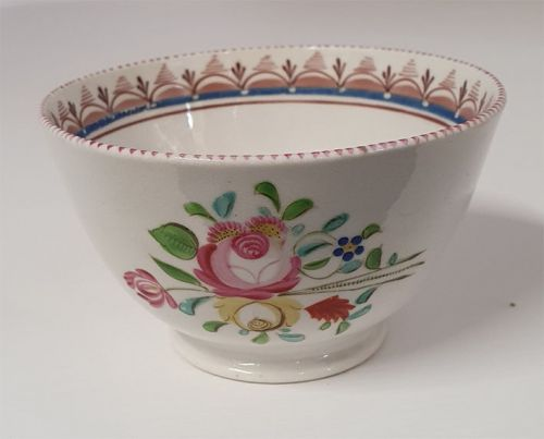 18th Century English Porcelain Tea Bowl
