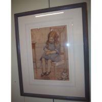 Scottish Child Portrait by R Readie Glasgow RSW