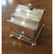 Fine Quality Silver Plated Desk / Ink Stand
