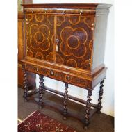 Fine 17th Century Oyster Cabinet on Stand