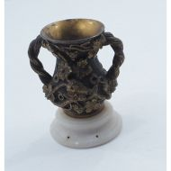 Small Regency Gilded Bronze Pen Pot