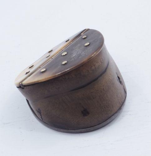 Georgian Hoof, Horn & Brass Snuff Box
