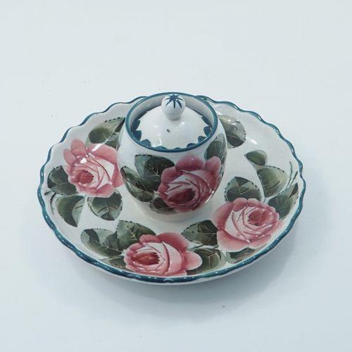 Scottish Wemyss Princess Inkstand in Roses