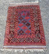 Small Afghan Tribal Prayer Rug