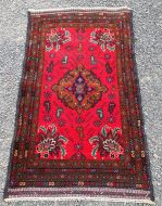 Fine Quality Vintage Afghan Belouch Rug