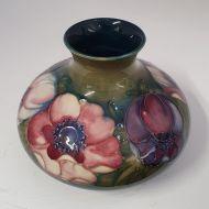 Large Moorcroft Enenome Squat Flower Vase
